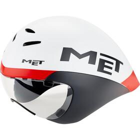 MET Drone Casco, blanco/negro